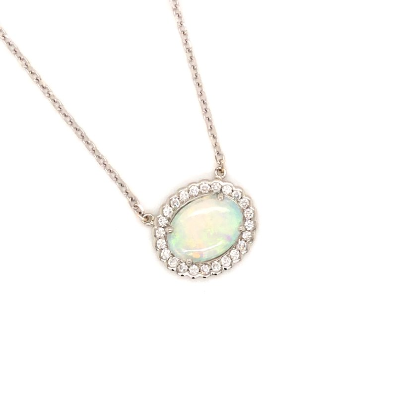 Cline Custom Cline Custom Opal and Diamond Necklace