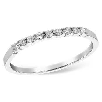 14k White Gold Diamond Band (0.12ctw)