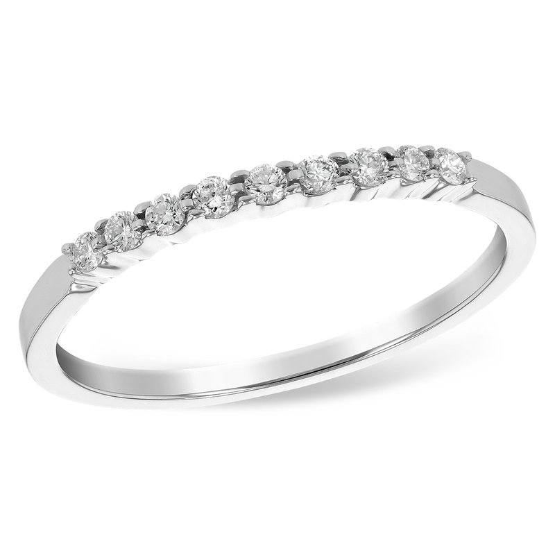 Cline 14k White Gold Diamond Band (0.12ctw)