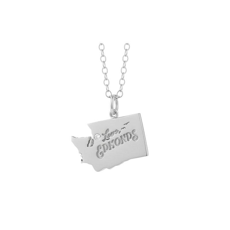 Cline Custom Sterling Silver Love Edmonds with Diamond