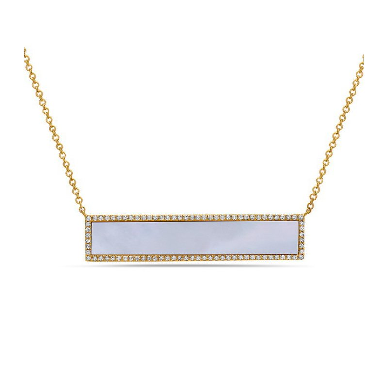 Cline Mother of Pearl and Diamond Pendant