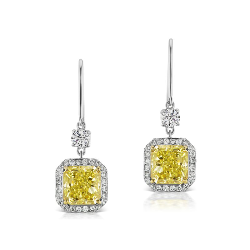 Cline Fancy Yellow Diamond Earrings