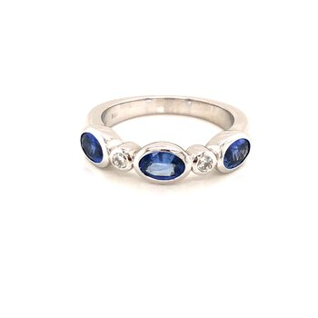 Cline Custom Sapphire and Diamond Ring