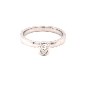 Bezel Set Oval Diamond Ring