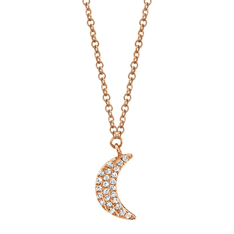 Cline Diamond Crescent Pendant