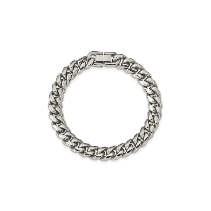 Cline Stainless Steel Curb Chain Bracelet