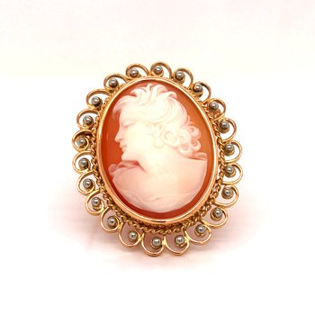 Estate Cameo Brooch/Pendant