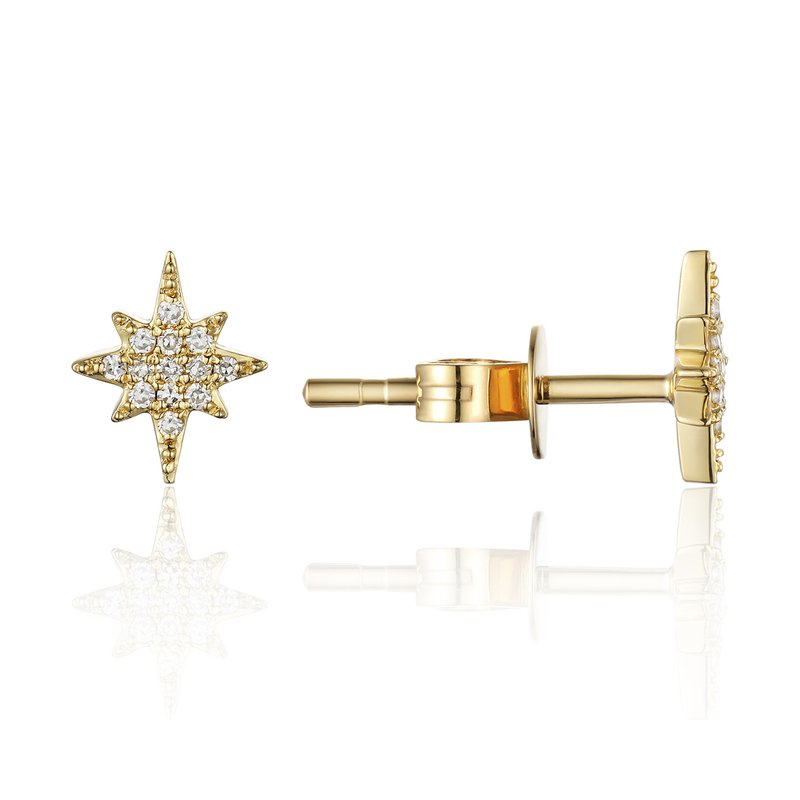 Cline Diamond Pave Star Stud Earrings