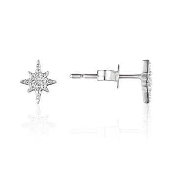 Diamond Pave Star Stud Earrings