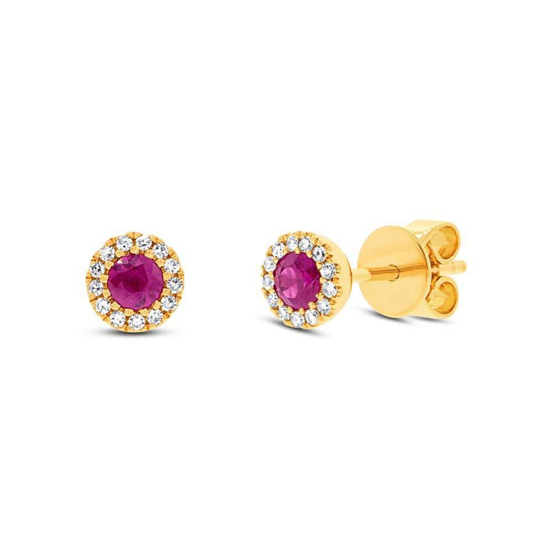 Cline Ruby and Diamond Earrings