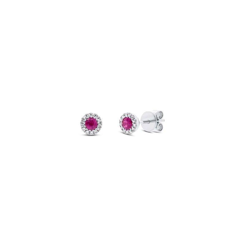 Cline Ruby and Diamond Earrings