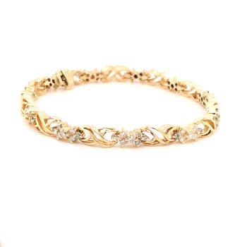 "Estate Diamond ""X"" Bracelet"