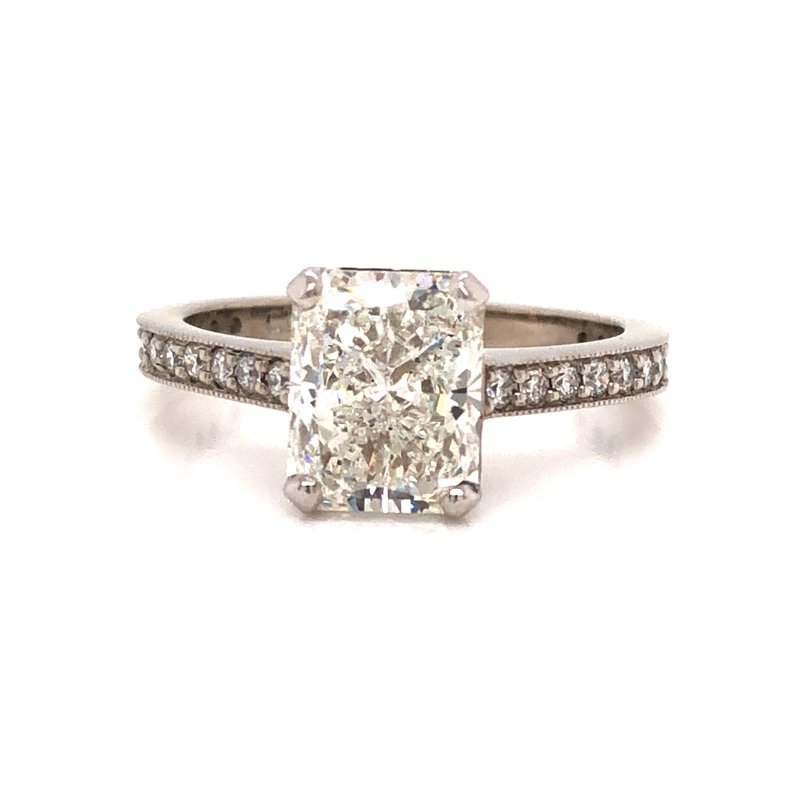 Cline Custom Radiant Cut Diamond Ring