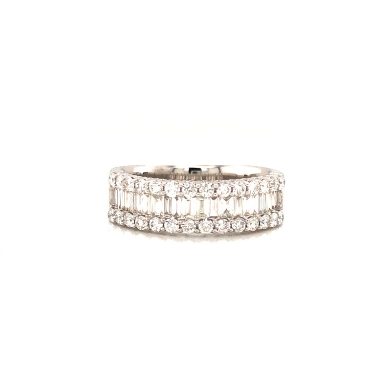 Cline Baguette and Diamond Ring