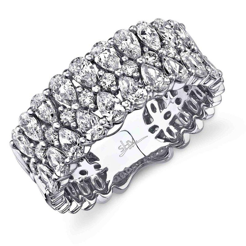 Cline Pear and Round Brilliant Fashion Ring