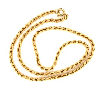 Estate 18k Yellow Gold Rope Chain