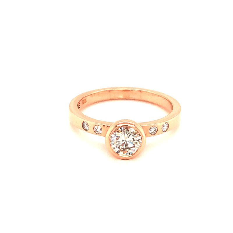 Cline Custom 14k Rose Gold Diamond Ring