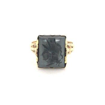 Estate Intaglio Hematite Ring