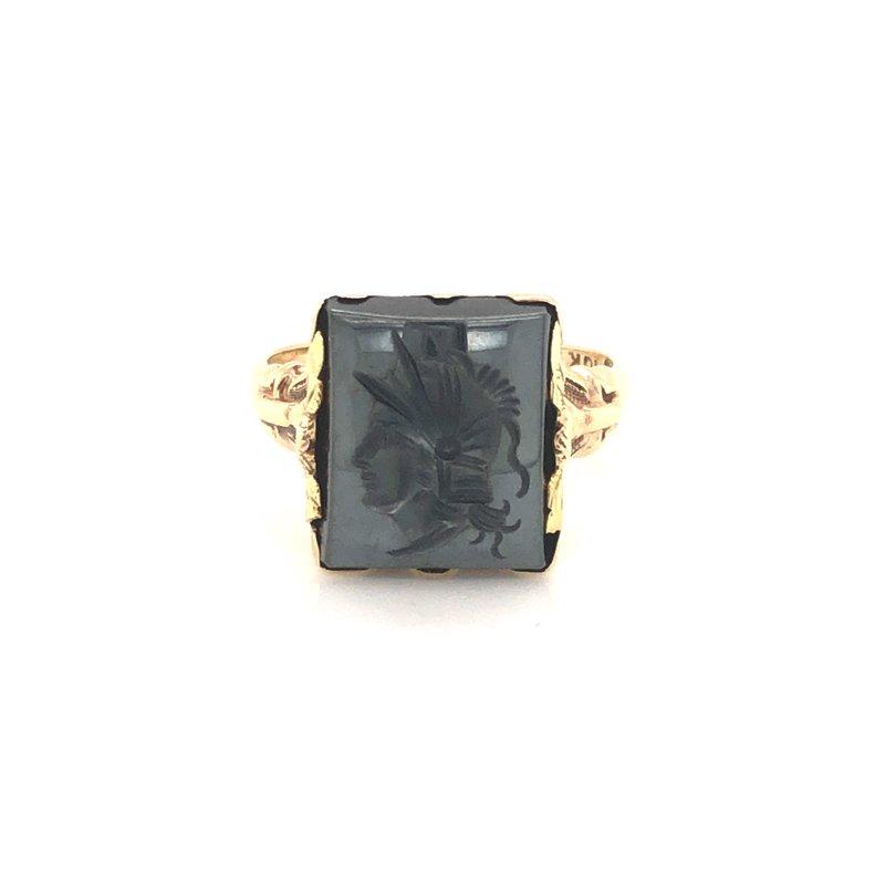 Cline Estate Intaglio Hematite Ring