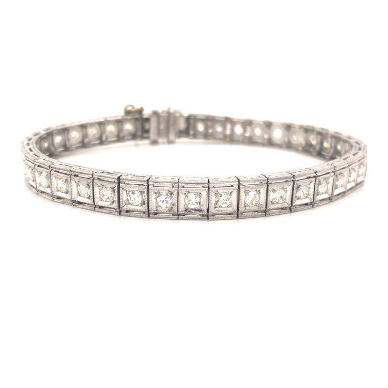 Cline Estate Art Deco Diamond Bracelet