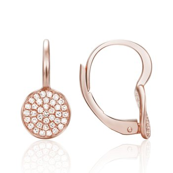 Pave Diamond Disc Earrings