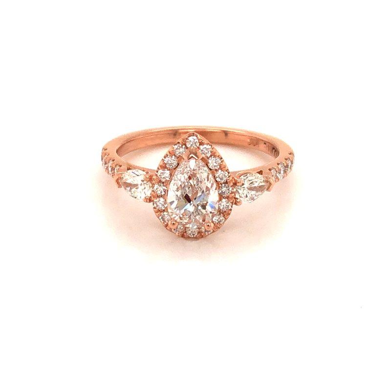 Cline Custom 14k Rose Gold Diamond Ring