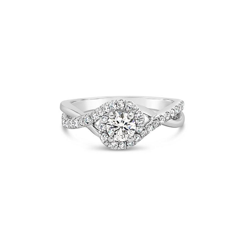Cline Twist Diamond Halo Ring