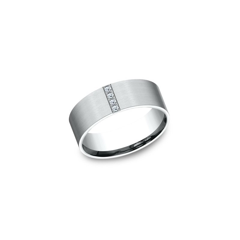 Cline Comfort-fit Band with Diamonds