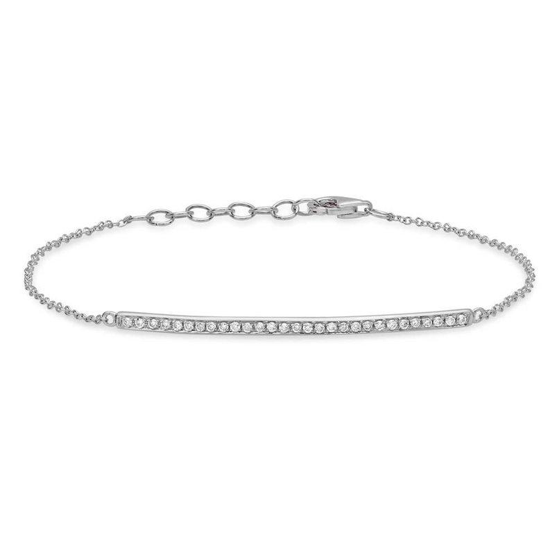 Cline Diamond Bar Bracelet