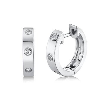 Diamond Huggie Earrings