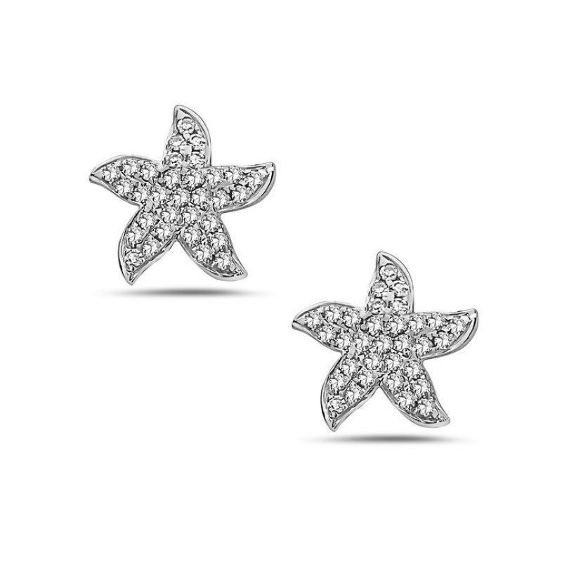 Cline Diamond Starfish Earrings