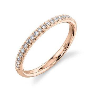14k Rose Gold Diamond Band