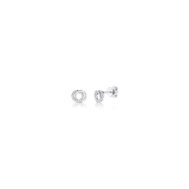 Cline Diamond Love Knot Earrings