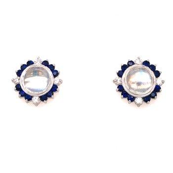 Moonstone Post Earrings