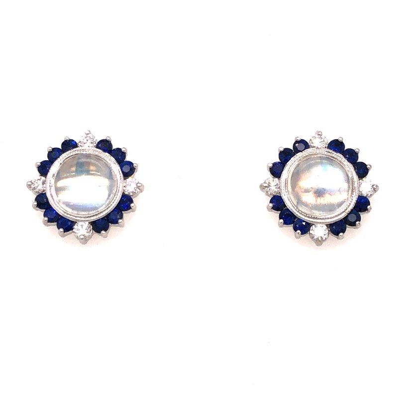 Cline Custom Moonstone Post Earrings