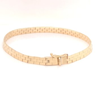 Estate Panther Link Bracelet