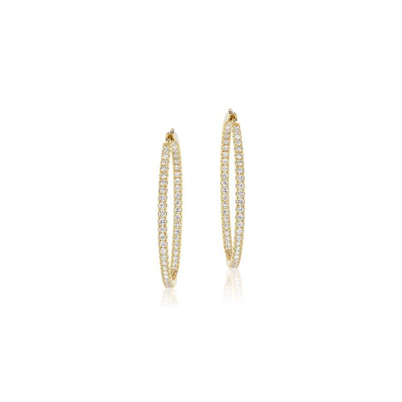 Cline Inside/Out Diamond Hoop Earrings