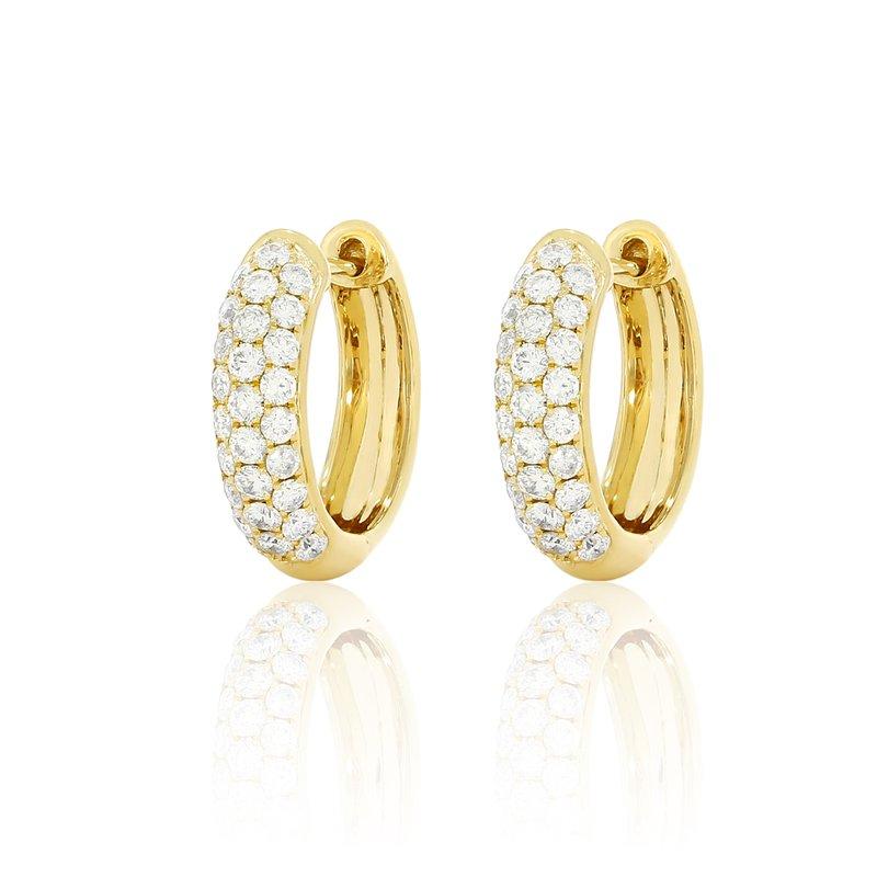 Cline 14k Yellow Gold Diamond Pave Huggies