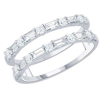 Duo Diamond Band Ring