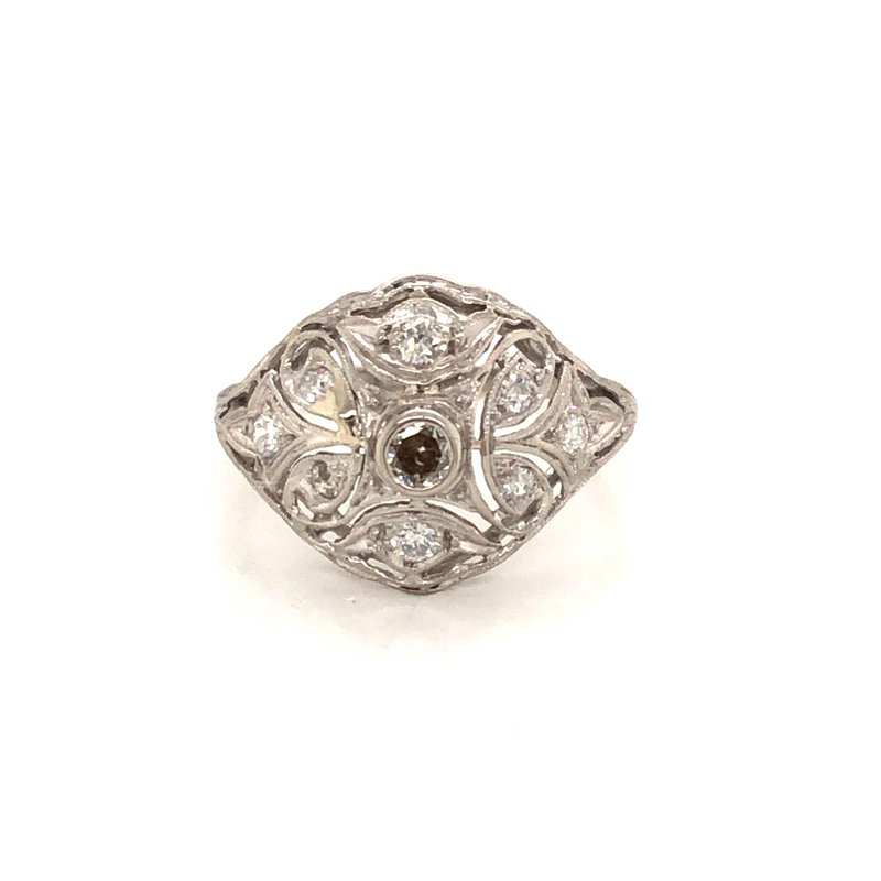 Cline Estate Platinum Art Deco Ring