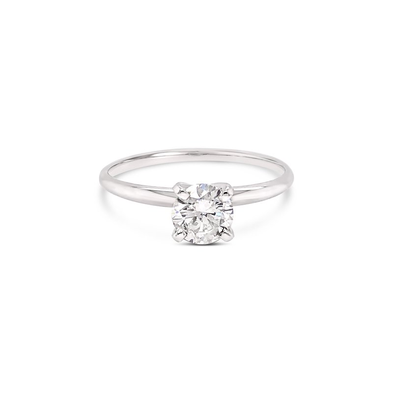 Cline Diamond Solitaire with Thin Band