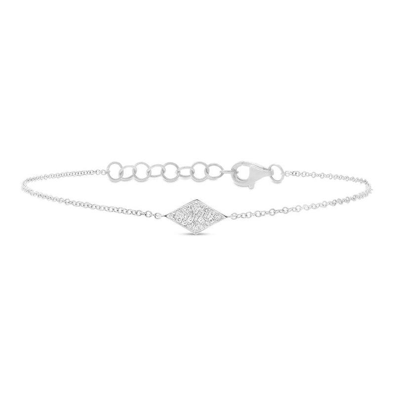 Cline 14k White Gold Diamond Fashion Bracelet