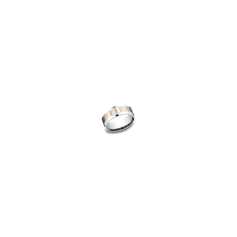 Cline Two Tone Comfort-Fit Design Wedding Ring