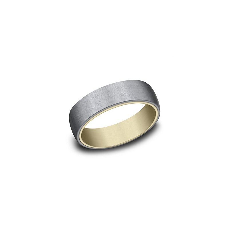 Cline 14k Yellow Gold and Tantalum Band