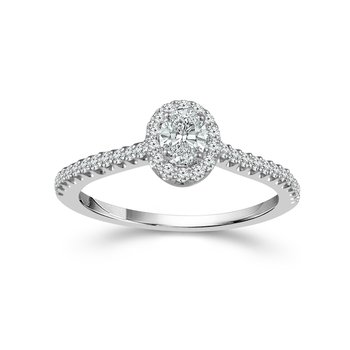 Oval Cut Halo Ring