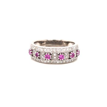 Estate Pink Sapphire and Diamond Ring