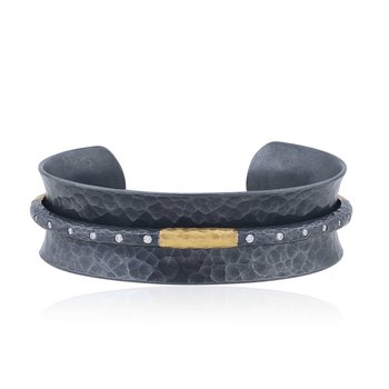 Diamond Open Cuff Bracelet