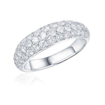 Diamond Pave Dome Ring