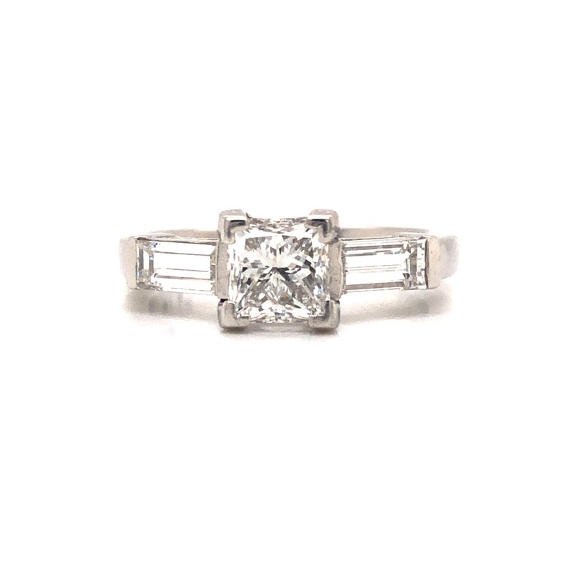 Cline Estate Princess Cut 3-Stone Ring