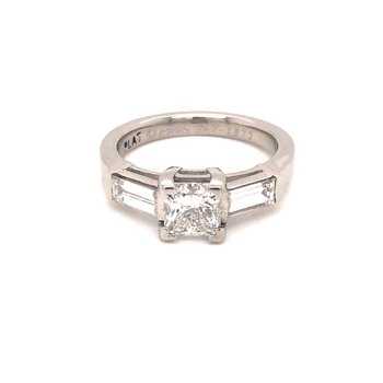 Estate Princess Cut 3-Stone Ring